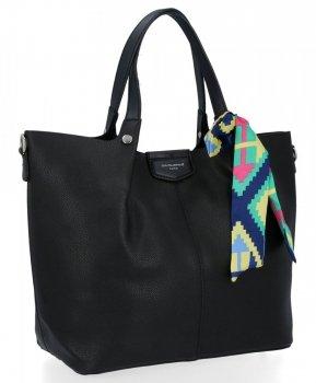 David Jones Torebka Damska XL Shopper Bag z Listonoszką Czarna