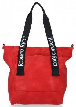 Uniwersalna Torebka Damska Modny ShopperBag w rozmiarze XL Czerwona