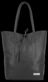 Uniwersalna Torebka Skórzana Firmowy Shopper Vittoria Gotti w rozmiarze XL Czarna