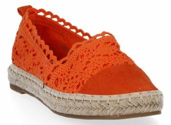 Pomarańczowe modne espadryle damskie firmy Lady Glory