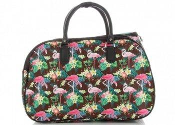 Mała Torba Podróżna Kuferek Or&Mi Flamingil Multikolor - Brązowa