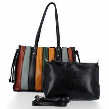 Modna Torebka Damska Shopper Bag z listonoszką firmy David Jones Czarna