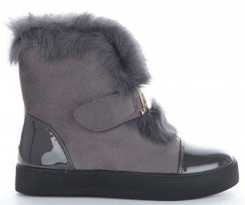 Modne i Eleganckie Sneakersy Damskie Śniegowce firmy Sergio Todzi Szare