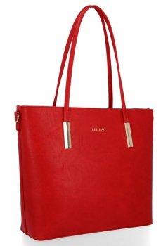 BEE BAG Klasyczne Torebki Damskie Florence w rozmiarze L Czerwona