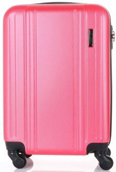 Elegancka Walizka Kabinówka 4 kółka obrotowe Firmy Madisson Różowa
