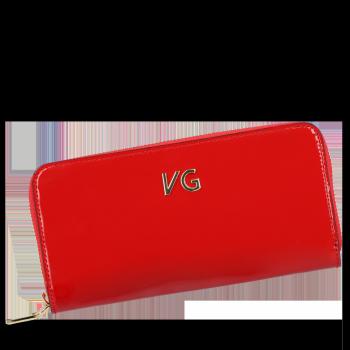 Luksusowy Lakierowany Skórzany Portfel Damski firmy Vittoria Gotti Made in Italy Czerwony