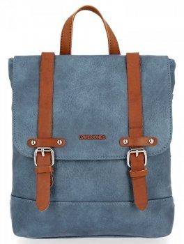 David Jones Firmowe Plecaczki Damskie w stylu vintage Niebieski