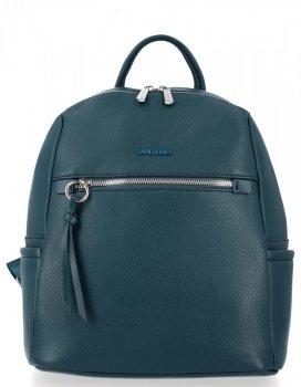 Uniwersalny Solidny Plecak Damski na co dzień firmy David Jones Morski