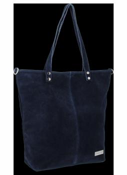 Uniwersalna Torebka Skórzana Shopper Bag firmy Vittoria Gotti Granat