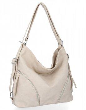 BEE BAG Uniwersalne Torebki Damskie z funkcją plecaczka Madison Beżowa