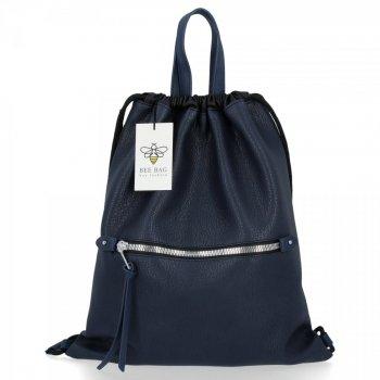 BEE BAG Torebka Damska Worek typu Shopper Bag Beatrice Granat