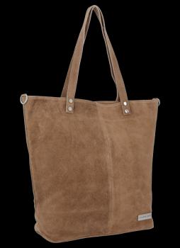 Uniwersalna Torebka Skórzana Shopper Bag firmy Vittoria Gotti Ziemista