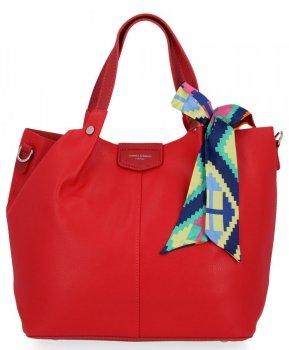 David Jones Torebka Damska XL Shopper Bag z Listonoszką Czerwona