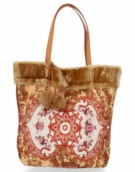 BEE BAG Torebka Damska Shopper XL Boho Style Khaki