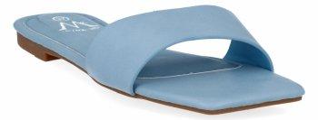 Błękitne modne klapki damskie firmy Bellicy