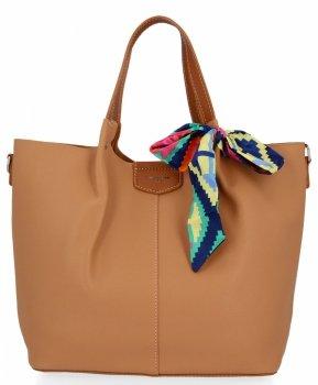 David Jones Torebka Damska XL Shopper Bag z Listonoszką Ruda
