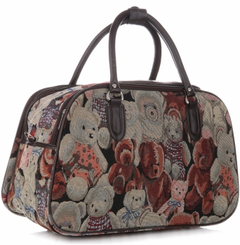 Duża Torba Podróżna Kuferek Or&Mi Teddy Bear Multikolor - Beżowa