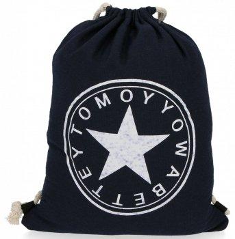 Plecaczki Damskie Praktyczny Worek wzór w gwiazdę Granat