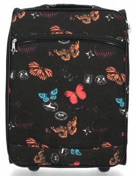 Modna Walizka Kabinówka Butterfly firmy Or&Mi Czarna