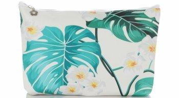 Firmowe i Modne Kosmetyczki w rozmiarze M marki David Jones wzór w kwiaty Multikolor Zielona