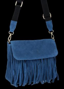 Modna Listonoszka Skórzana z Frędzlami firmy Vittoria Gotti Jeans