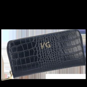 Vittoria Gotti elegantné značkové kožené Dámske peŘaženky v téme aligátor granát