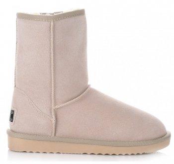 Talianske kožené členkové topánky dámske zimné topánky Béžová