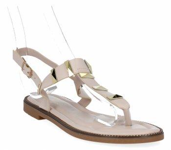 Béžové módne dámske sandále z Bellica