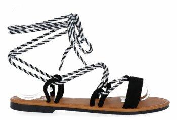 Čierne módne dámske sandále od spoločnosti Givana