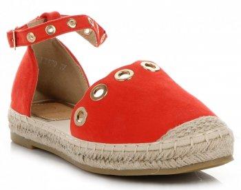 Lady Glory štýlové dámske topánky Espadrilles Červená