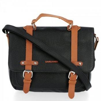Univerzálna dámska taška na messenger v štýle vintage David Jones čierny