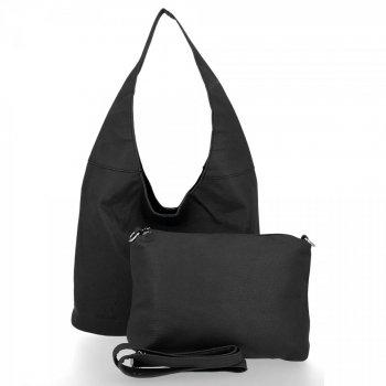 BEE Bag univerzálne Dámske tašky 2v1 Shopper s Messenger Bag Lena Čierna