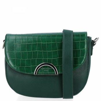 Elegantná dámska taška na posol v štýle zvierat z fľaše David Jones zelený