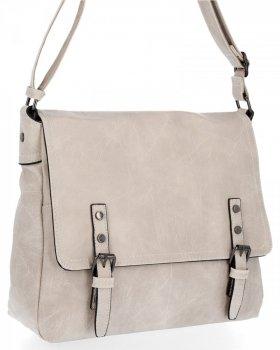 Bee BAG Veľký Messenger Bag pre ženy Adelia Vintage béžová taška