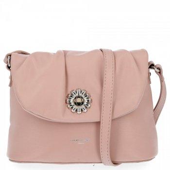 Elegantná dámska taška na posol David Jones v prášku ružová