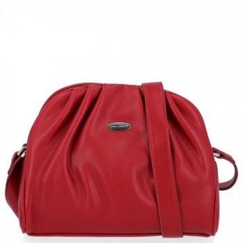 Elegantná dámska taška David Jones červený