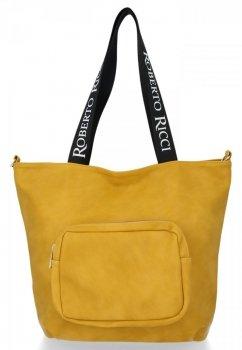 Roberto Ricci Značkové dámske nákupné tašky veľkosť XL horčica