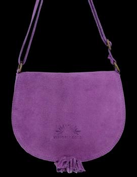 Vittoria Gotti univerzálna Kožená taška na Messenger pre každodenné nosenie Fialová