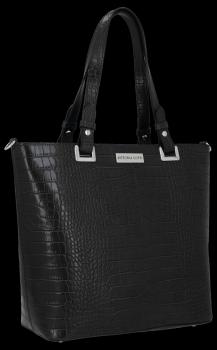 Klasická Kožená taška v štýle aligátora od Vittoria Gotti čierny