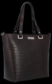 Klasická Kožená taška v štýle aligátora od čokolády Vittoria Gotti