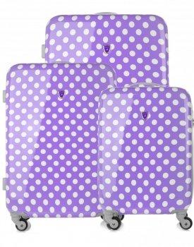 Módna sada kufrov 3v1 od známej značky Madisson purple