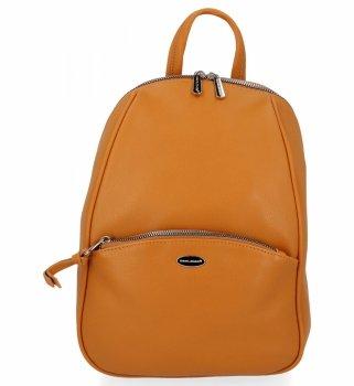 Univerzálny dámsky ležérny batoh David Jones žltý