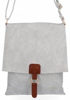 BEE Bag Módne Dámske Messenger Bag XL Napoli Svetlo šedá