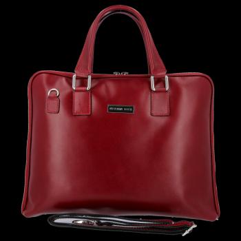VITTORIA GOTTI kožené tašky vyrobené v Taliansku dámska Aktovka A4 Burgundsko