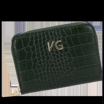 Vittoria Gotti Nositeľná elegantná Kožená peŘaženka Ženy v dizajne aligátora Zelená