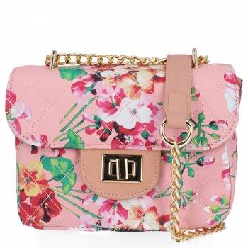 Módne Dámske Messenger taška s Kvetinovou potlačou Herisson prášok Rose