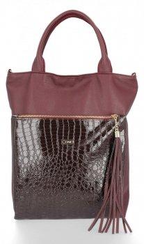 Štýlová dámska taška Conci Veľkosť XL burgundy