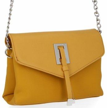 Elegantná Dámska dvojkomorová taška David Jones žltý