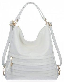 Dámske tašky značky Herisson s funkciou batohu Biela