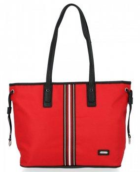 Módna dámska nákupná taška David Jones červený